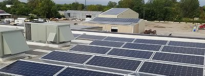 Commercial Roof Top Solar Installation Project